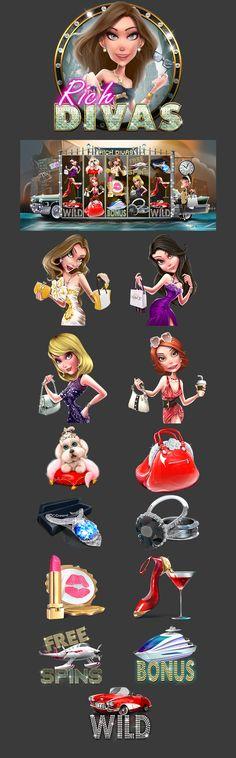 https://www.behance.net/gallery/40191495/Slot-Machine-Rich-Divas-casino-game-art