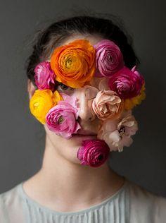 """""""flower face"""" portraits by Kristen Hatgi http://www.kristenhatgi.com Bella, 2013"""