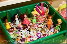 Fairies & Flowers Sensory Bin - 1+1+1=1