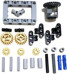 LEGO Technic Differential gear box kit (gears, pins, axles, connectors) 27 pieces