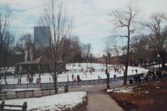 Would love to relive the happy times we spent ice skating in the park, with cheers bar in the for ground.