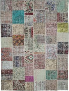 Our vintage patchwork rugs sew together cultures, traditions and history, creating beautifully unique rugs. We carefully select Turkish hand-knotted rugs woven in the 60's and 70's to create our collection of patchwork rugs. We trim the piles for a vintage look. #kilimstudio #kilimcom #patchwork #patchworkrug #carpet #arearug #rug #rugs #vintage #vintagerug #distressedrug #handwoven #handknotted #handmade #eclectic #bohemian #bohodecor #bohochic #quilt Beige Pillows, Purple Pillows, Purple Pillow Covers, Braided Wool Rug, Hand Knotted Rugs, Woven Rug, Area Rugs Cheap, Patchwork Rugs, Handmade Rugs
