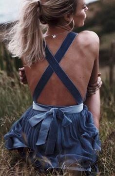 Dress has cute back details