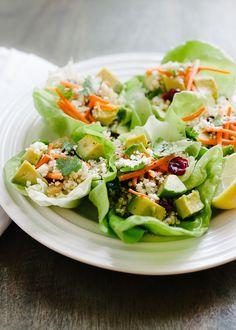 Quinoa Salad Lettuce Cups | www.kitchenconfidante.com