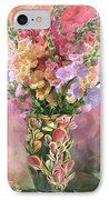 Snapdragons In Snapdragon Vase IPhone Case by Carol Cavalaris