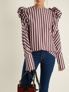 Striped cotton-popli