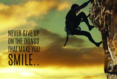 Never give up on the things that make you smile. #inspirational #motivational #quotes