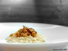 ριζότο λεμονιού με αλεύρι αμυγδάλου και τραγανά ρεβίθια με πλιγούρι