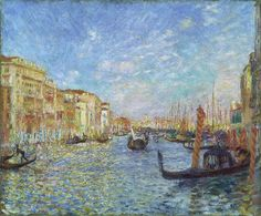 """Grand Canal, Venice"" -- 1881 -- Pierre-Auguste Renoir -- French -- Oil on canvas -- Museum of Fine Arts, Boston"
