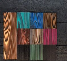 Our #shousugiban product samples #contrast so well together. Pair our Cypress with a bit of color, and you can make your space come alive. #deltamillworks #atx #woodworking #architecture #design #cypress