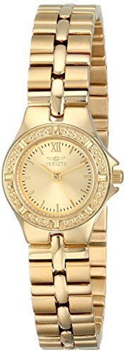 Invicta Womens 0137 Wildflower Collection 18k GoldPlated Stainless Steel Watch >>> Click image for more details.