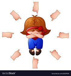 Little girl being accused with fingers pointing at vector image on VectorStock Preschool Rules, Preschool Activities, Cartoon Kids, Girl Cartoon, Free Wallpaper Backgrounds, Social Skills For Kids, Cute Baby Girl Pictures, Notebook Art, Toddler Girls