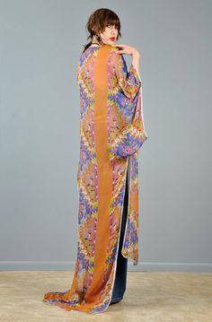 1920's Art Nouveau Sheer Silk Kimono