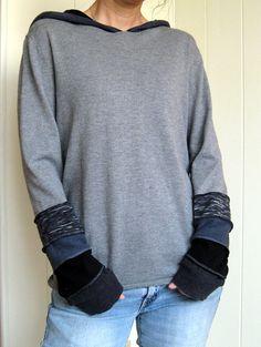 Turnaround Designs upcycled sweater hoodie