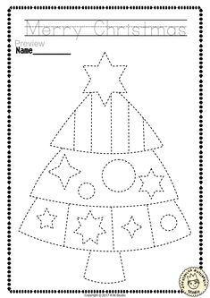 """Help your child develop their pre-writing and fine motor skills with «Christmas Trace and Color Pages"""" This .pdf file includes 14 Christmas themed Tracing and Coloring Worksheets. This is a perfect activity for your young artists. Preschool Christmas Crafts, Christmas Crafts For Kids To Make, Christmas Activities, Xmas Crafts, Diy Christmas, Coloring Worksheets For Kindergarten, Tracing Worksheets, Christmas Worksheets, Pre Writing"""