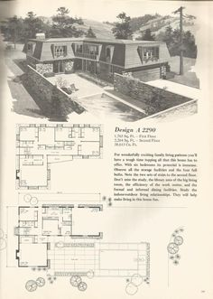 Vintage House plans, mid century homes-1976