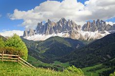 Dolomites, Italy. The Dolomites are a section of the Alps mountain range in Italy. Besides the spectacular views, visitors to the Dolomites can enjoy skiing, snowshoeing, snowboarding, ice skating and sledding in the winter months, and hiking, mountaineering, mountain biking, base jumping, paragliding and hang-gliding in the summer.