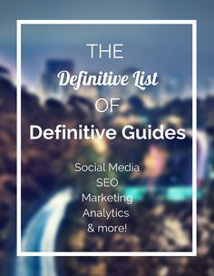 These guides provide an enormous amount of value and are written by some of the top experts. They are like mini-books on specific topics of interest and tend to be how-to guides.