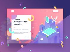 On of client work that we did a few months back!  This one was part of my experimentation but the team did a better job that we will preview soon! We tried a combination of gradient & little mo...