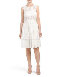Silk+Sleeveless+Lace+Dress