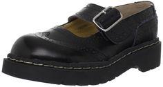"T.U.K. Women's T1002 Brogue Mary Jane Flat,Black,8 M. Leather. Synthetic sole. Heel measures approximately 1 1/4"". Platform measures approximately 0 3/4"". 100% Authentic."