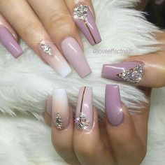 Need some nail design inspiration for your nails? browse these beautiful trendy nail designs that are hot right now! Glam Nails, Fancy Nails, Bling Nails, Love Nails, Beauty Nails, Fabulous Nails, Gorgeous Nails, Pretty Nails, Rhinestone Nails