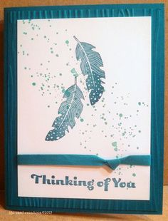 Thinking of You Card for Operation Write Home, made at PJ Card's Stampin Up class