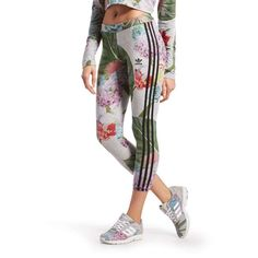 new style e87d3 ee2b7 adidas Originals Training Leggings Floral Pack Floral Leggings, Jd Sports,  The Originals, Adidas