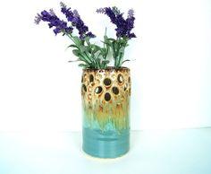 Vase Handmade WheelThrown Ceramic Pottery by RiverStonePottery, $66.00