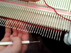 ▶ Machine Knit Crochet Cast On - YouTube