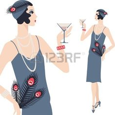 1920 hat fashion illustrations - Google Search