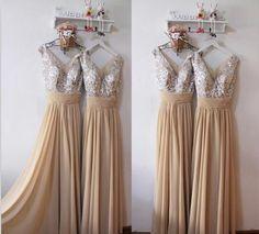 XB28 sequin bridesmaid dress,champagne bridesmaid dress,long champagne – FashionDressGallery