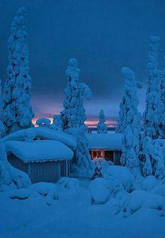 Winter in Kuusamo, Finland. Winter Szenen, I Love Winter, Winter Magic, Winter Is Coming, Winter Christmas, I Love Snow, Winter Night, Foto Gif, Voyage Europe