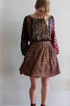 DVF animal print skirt . ladyalamode