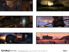 FamousFrames Storyboards, Animatic Artists, Storyboard Artists, Wes Louie