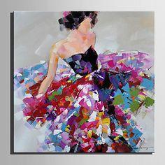 Peint à la main PersonnageStyle européen Un Panneau Toile Peinture à l'huile Hang-peint For Décoration d'intérieur de 4879992 2016 à €17.63