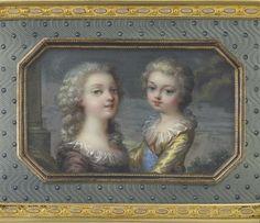 A miniature portrait of Marie Thérèse and Louis Joseph by Adrien-Jean-Maximilien Vachette. Circa 1784-1785. image: (C) Musée du Louvre, Dist. RMN-Grand Palais / Martine Beck-Coppola