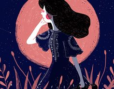 The Moon Girl is an illustration set about a girl chasing her dreams & goals.