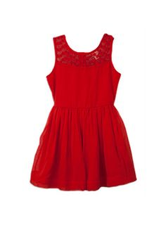 Classic Christmas Red dress is perfect for getting in the Christmas spirit! #DearPumpkinPatch