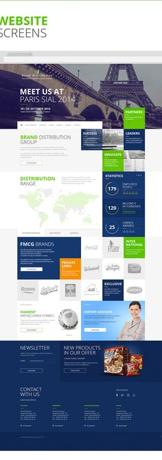 Brand Distribution - Key Visual & Website on Behance