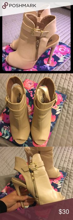 67cba823a98 Nude booties- size 7 Nude pumps booties in perfect condition. I only wore