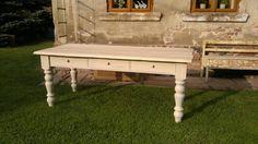 Jídelní+stůl+se+šuplíky+Stůl+je+vyroben+ze+smrku,+nohy+mají+krásnou+patinu+a+deska+stolu+je+z+dubu+...rozměry+jsou:délka+200cm*šířka+75cm*výška+79cm...samozřejmě+pokud+budete+chtít+jiný+rozměr,+stačí+si+objednat...dopravu+či+případné+poštovné+budeme+řešit+individuálně(Češká+pošta+s+tím+má+problém)......