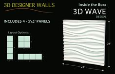 3d wall panels #a360design 360 Design, Wave Design, 3d Wall Panels, Cards Against Humanity, Layout, Page Layout