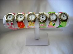 I want one of these watches with Lilly Pulitzer fabric!