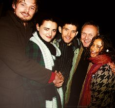 Merlin cast: Bradley, Katie, Colin, Anthony, and Angel Merlin Show, Merlin Series, Merlin Fandom, Merlin Cast, Bbc, Merlin Fanfiction, Merlin Colin Morgan, The Best Series Ever, Call My Friend