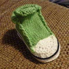 Streß-Stricken: Baby Chucks Häkel- und Strickanleitung