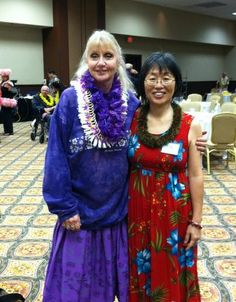 With my student, Yuko Okumura at Kawaikapuokalani Hewett's hula intensive workshop in Indianapolis IN 2013