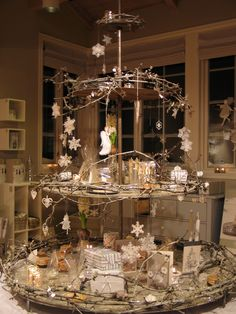 Christmas display- could make something like this to hold my nativity scene pieces.