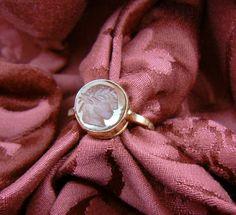 Intaglio Ring Anco Marzio gold 18 kt carnelian epoca 800 - Dogale Jewellery Venice Italia