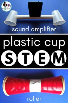 Simple STEM with Plastic Cups - Design and create a sound amplifier, an anemometer, a roller, and more. STEM Activities for Kids from Meredith Anderson Momgineer. Music Activities For Kids, Steam Activities, Science For Kids, Camping Activities, Sound Science, Stem Science, Science Experiments, Physical Science, Science Education